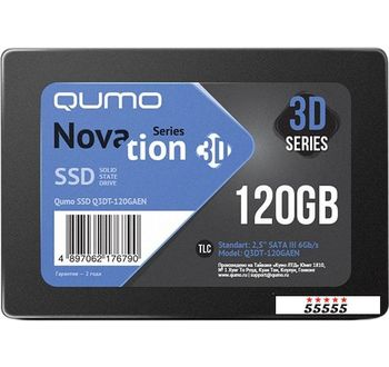 SSD QUMO Novation 3D 120GB Q3DT-120GAEN