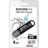 USB Flash Exployd 570 4GB (черный)